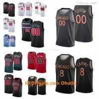 사용자 정의 시카고스 저지 Wendell 34 Carter Jr. Coby 0 White Lauri Markkanen Zach Lavine City Thaddeus 21 Young Edition Basketball Jerseys R