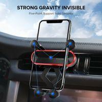 Yerçekimi Görünmez Araba Telefonu Tutucu Hava Firar Dağı Teleskopik Standı Evrensel Klip Fold Cradle iphone Samsung GPS Cep Telefonları Braketi Için