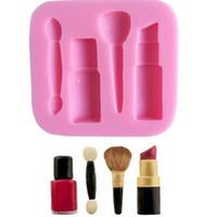 Moldeos de silicona 3D Maquillaje Lápiz labial Modelado Moldeo para hornear Pastel de chocolate Caramelo Decoración de caramelo Cocina DIY New Llegada 1 4SK G2