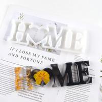 Love Home Famille Silicone Moule Love Résine Moule Love Signer Word Epoxy Résine Moules pour Diy Table Décoration Art Artisanat HHA3486