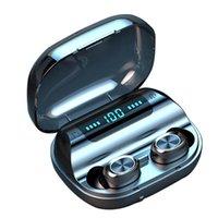 263 TWS Écouteurs sans fil 5.0 Touch Control Earbuds IPX7 étanche 9D Stéréo Bluetooth Headset de musique 1200mAh Power Bank