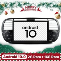 Black Android 10 автомобиля GPS Radio Fit 500 Bluetooth DSP Spract Screen Recorder Automotivo Multimedia Player Full Touch Car DVD
