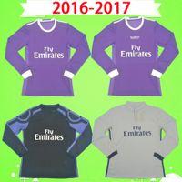 Uzun Kollu 2016 2017 Retro Gerçek Madrid Futbol Forması Ronaldo Pepe Kross Benzema Tam Futbol Gömlek 16 17 James Vintage Camiseta de Fútbol