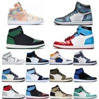 Venta al por mayor para hombre para mujer 1s zapatos de baloncesto ferepcional I iridiscente reflectante blanco para hombre Outdoos entrenador deportes zapatillas de deporte size36-46
