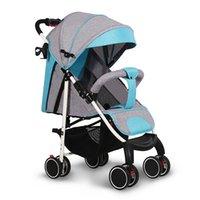 Cochecitos # 2021 Cómodo cochecito de bebé simple eléctrico Ligero Ligero Easy Cuidado 360 Viajes