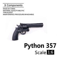 "1 : 6 Cole Python 357 리볼버 4D 총 모델 12 ""액션 피규어 플라스틱 블랙 병사 무기 액세서리 컬렉션 팬 DIY"