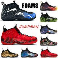 2020 Penny Harfaway Mens Sapatos de Basquete Um Preto Aurora Pro Knicks Brilhante Carmesim Volt Air \ RFoamposite Homens Sneakers Trainers 40-47