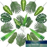 72 parça 7 çeşit suni palmiye yaprakları kaynaklanıyor Tropikal yapraklar Faux orman yaprakları parti süslemeleri için yaprakları