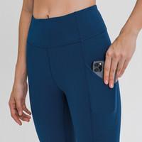 Yoga polainas bolsillo lateral Colourful88 yoga pantalones de gimnasia de ropa de mujeres de las bragas del entrenamiento polainas de cintura alta elástico Ejecución de la aptitud Capris apretado