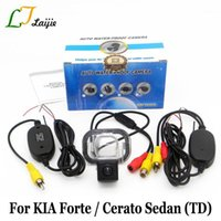Auto Rückansicht Kameras-Parking-Sensoren für KIA Forte Cerato Sedan TD 2009 ~ Gegenwart / HD Autokamera RCA AUX-Schnittstelle Wireless-Rückfahrkamera