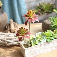 Flores decorativas Guirnaldas Suculentas artificiales Terrenos Lotus Plantas Hierba Floya Floya Decoraciones de Navidad para Casas Plantas Artificiales