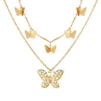 Novos colares de pingente de borboleta para mulheres Presentes de moda Charme Multilayer Gargantilha Colar 2020 Bohemian Jóias