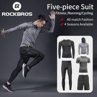 Rockbros Costumes Sport running Hommes Jeux Quick Dry Sweat absorbant sport Joggers Gym Fitness Survêtements Ensembles en cours