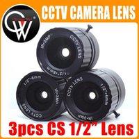 """3pcs / lot HD 3mp cctv obiettivo 4mm 6mm 8mm cs obiettivo 3MP per telecamere di sicurezza HD Telecamera IP BOX BOX F2.0 Formato immagine 1/2 """"1"""