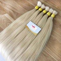 Top Grade Silk Straight Wave Human Hair Bundles 300Grams Lotto Vergine Peruviano Blonde Blonde Capelli Umani Bulk Nessuna trama Blonde Color 613 Blonde Capelli