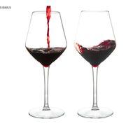 Plástico americano transparente de silicone inquebrável copos de vidro de vinho plástico bar caseiro lj200821