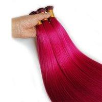 """المستعبدين قبل DHGATE ملحقات الشعر تلميح أنا ملحقات شعر الإنسان بالجملة البشرة الانحياز الشعر الأحمر الوردي الأزرق الأرجواني شقراء 100strands 14 """"-26"""""""