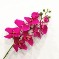 Flanelle Artificielle 9 Fleur artificielle Artificielle Artificielle Décoration De Décoration Film Film Fleur Artificielle Papillon Orchidée Orchidée de 10 T200703