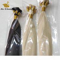 ブロンドの髪の延長手の巻き毛の緯糸白の灰色の色の髪の髪の髪の織り手前100gram