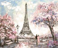 Foto de los fondos de la torre Eiffel de París cumpleaños de los niños Vinilo fondos de fotografía Flores Árboles boda Booth para niños Studio Puntales