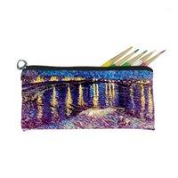 Sacs cosmétiques Cases Gogh Painting Sac Jiesmart Sublimation Impression Cadeau Souvenirs Art Collections sur mesure