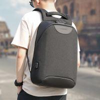 لا مفتاح مكافحة سرقة TSA قفل أزياء الرجال حقائب الظهر 15.6 بوصة USB شحن حقيبة كمبيوتر محمول 2020 حقيبة مدرسية للرجال للمراهق