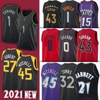 Donovan 5 Garnett 27 Rudy Mitchell Gobert 0 Damian 1 Anthony Lillard Edwards Kevin 15 Vince 43 Pascal Carter Siakam Maglie di basket