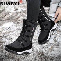 2020 جديد الرحلات midcalf الأحذية الأزياء ستوكات المرأة الأحذية الأحذية امرأة المشي الشتاء الدافئة أفخم النساء الثلج 1