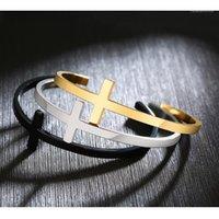 Charm Bilezikler Paslanmaz Çelik Çapraz Bilezik Hıristiyan DIY Oyulmuş Alıntı Dini İncil Ayet Takı Hediye Dropship1