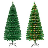 7. 5FT Fiber Optic Christmas Tree with 260 LED Lamps & 260 Br...