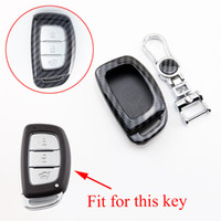 Anahtarlık Hyundai Sonata için Fit Tucson Elantra IX25 IX35 Mistra Verna Akıllı Anahtar Fob Durumda Çanta Kabuk Tutucu Aksesuarları Karbon Fiber