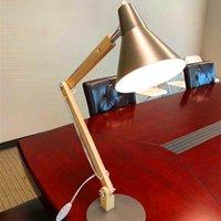 Sıcak Satış AlightUp Klasik Mini Moda Buzlu Metal Abajur ve Ahşap Braketi Doku Çalışma Masa Lambası Işık Kaynağı Ile ABD Fiş