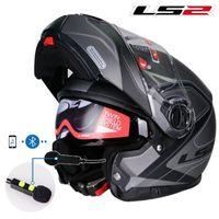 Cascos de motocicleta Genuine LS2 FF325 Flip Up Casco de Motociclo Doble Sun Shield Lente Moto Motor