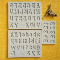 Новая Столовая для шоколада Буквы Цифры кремния 3D Fondant Плесень Торты Украшать Инструменты DIY кухни выпекание безопасности Пресс-формы