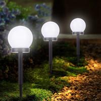 2X Sensor Solar Bola Controle Smart Luz ao ar livre do gramado impermeável lâmpada lâmpadas Individual Bead 2V 40mAh iluminação exterior LED Solar