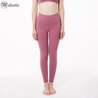 2021 feste farbe frauen yoga hosen hohe taille sport sport turnhalle tragen leggings elastische fitness dame insgesamt volle strumpfhosen trainieren mädchen