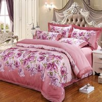 2020 Blumen Rose Rosa Blätter Jacquard Seide Baumwolle Bettwäsche Königin King Size Bettbezug Set Bettsheet Kissenbezüge1