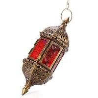 Стильный марокканский стиль висит подсвечник креативные металлические свеча палочка свеча висит фонарь держатель ремесло для украшения дома LJ201018