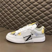 Valentino shoes Neue VL7N Turnschuhe Echtes Leder Herren Frauen Wohnungen laufende Trainer Geprägte Luxurys Design Schwarz Whith Kleid Schuhe Chaussures Schuhe