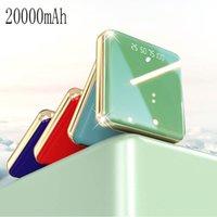 10pcs 20000mAh beweglichen Minienergien-Bank-Spiegel-Schirm LED-Anzeige Powerbank External Battery Pack Poverbank für intelligenten Handy-XU-CDB