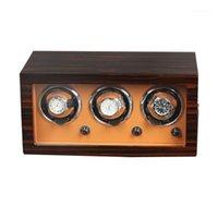 Horloge Winders Luxe Houten Upgrade Versie 3 + 0 Mechanische Horloges Winder Automatische Multifunctionele 5 Modi Display Box1