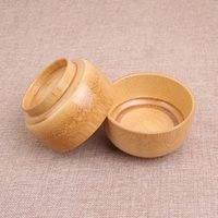 3 PCS lot Bamboo Bowl Household Baby Rice Soup Fruit Bowl Light Wooden Bowl Kitchen Tool CCE3808