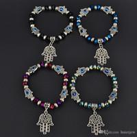 Charme-Armbänder Arbeiten Sie einfache religiösen Charme blaue Perlen Glücksarmband Besten Spiel Türkisch Schön Armband