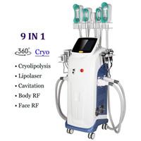 Meslek Cryolipolysis Zayıflama Kriyo Makinesi 4 Sapları Yağ Azaltma Kilo Kaybı 8 1 Lazer Lipo Kavitasyon Liposuction Selülit Temizleme Cihazı