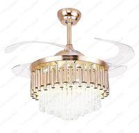 Lampada da ventilatore europea con telecomando LED Camera da letto sala da pranzo Soffitto per la casa Invisibile