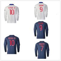 Manga comprida personalizada 20-21 Tailandesa Qualidade Camisas de futebol Camisas para longe 9 Cavani 11 di María 7 MbAppé 22 Jesé futebol usa