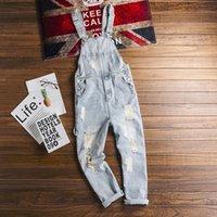 جينز رجالية وسيم حفرة مكسورة الدينيم وزرة الأمريكية الرجعية الأدوات رجالي بذلة الأزياء الحمالات البرية الذكور tide1