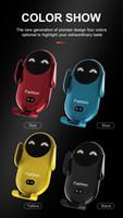 S11 스마일 자동차 무선 충전기 자동 감지 오픈 무기 자동차 공기 콘센트 휴대 전화 홀더 4 색 선택