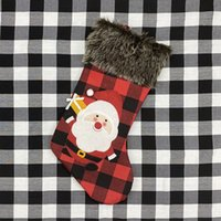 Weihnachtsstrümpfe Dekor Weihnachtsbaum Ornament Partydekoration Weihnachtsweihnachtsstrumpf Süßigkeit Socken Taschen Weihnachtsgeschenke Tasche 17