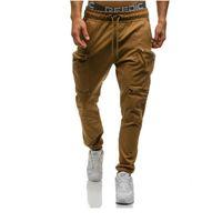 Casual Joggers Pants Men Autumn Cargo Pocket Elastic Long Trousers Fitness Sportswear Tracksuit Skinny Sweatpants Plus Size 3XL